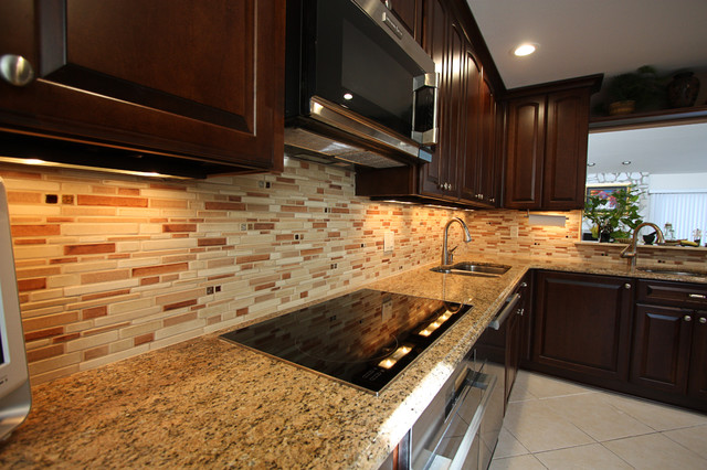 Backsplash With Diffe Types Of Tiles